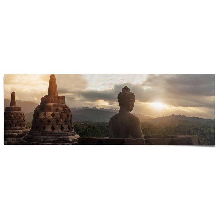 Borobudur Boeddha - Poster 158 x 53 cm