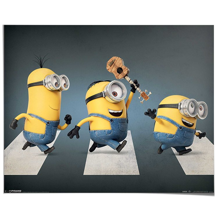 Minions Beatles - Poster 50 x 40 cm