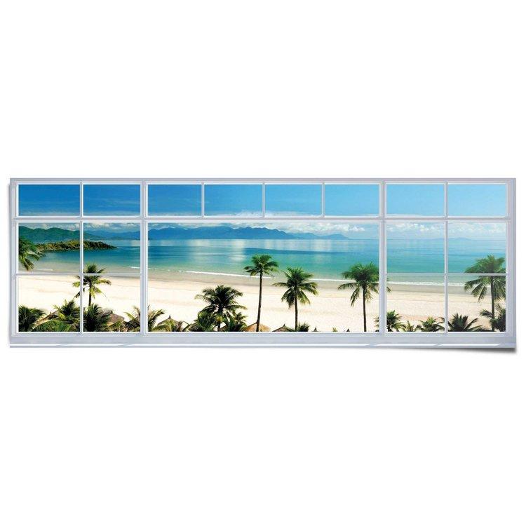 Strand uitzicht  - Poster 158 x 53 cm