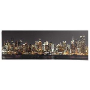 Poster New York skyline in de nacht (Assaf Frank)
