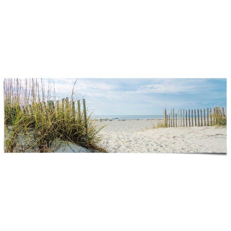 Duinen en strand  - Poster 158 x 53 cm