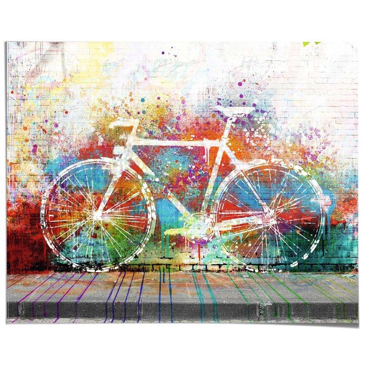Fiets Steetart Graffiti - Poster 50 x 40 cm