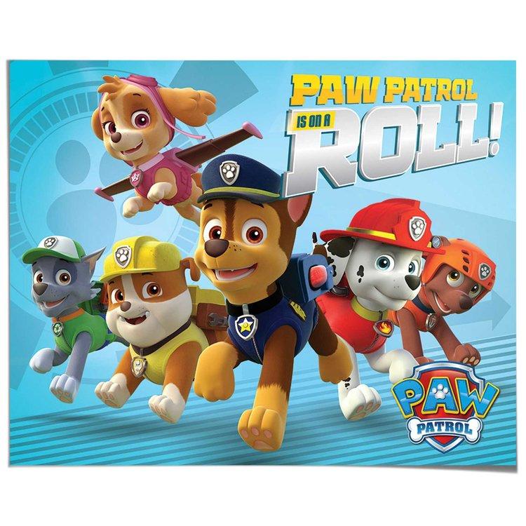 Paw Patrol Roll - Poster 50 x 40 cm
