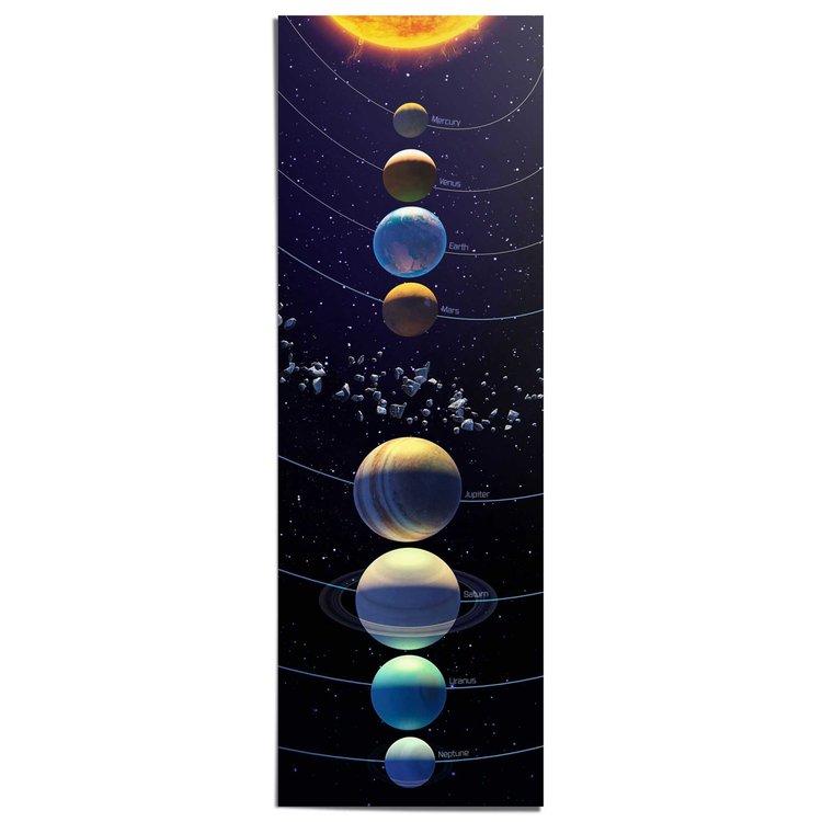 Zonnestelsel - Poster 53 x 158 cm