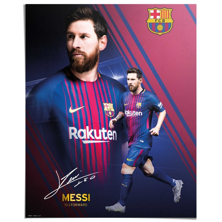 Messi Collage - Poster 40 x 50 cm