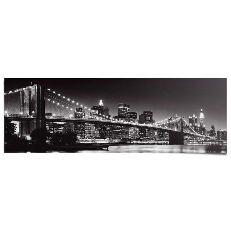 New York - brooklyn bridge - Poster 158 x 53 cm