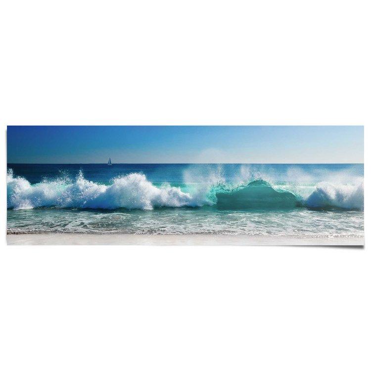 Wilde golven - Poster 158 x 53 cm