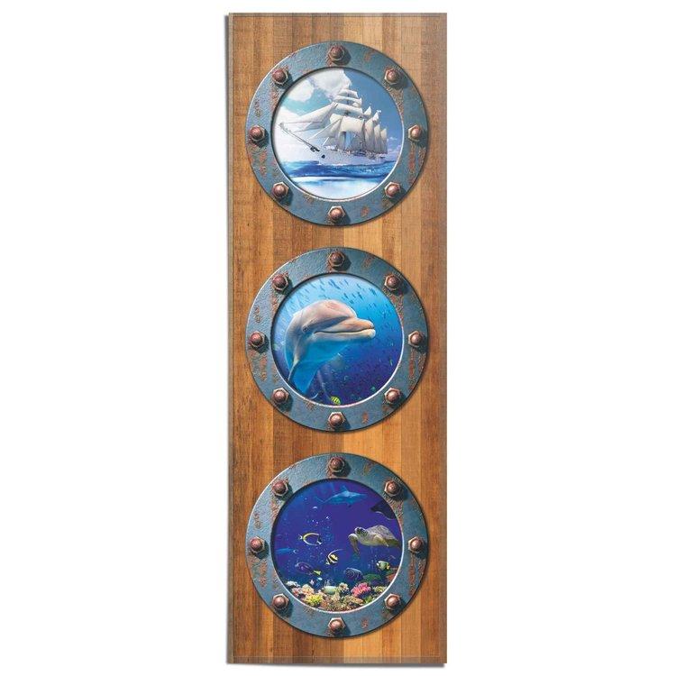 Patrijspoort Onderwaterwereld - Zee - Vissen - Dromen - Poster 53 x 158 cm Papier