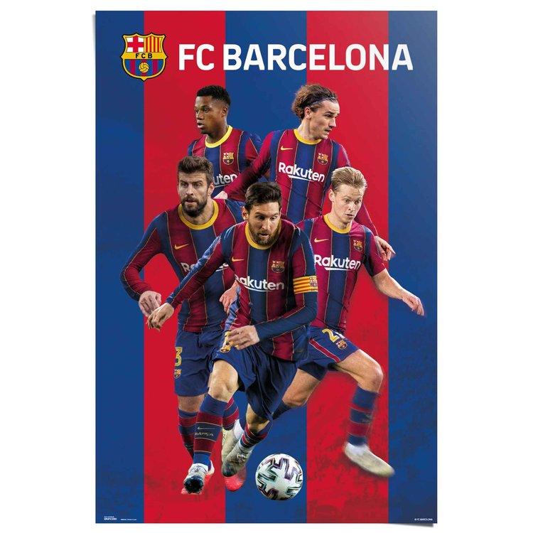 FC Barcelona  Camp Nou - Spanje - voetbalspelers - Poster 61 x 91.5 cm Papier