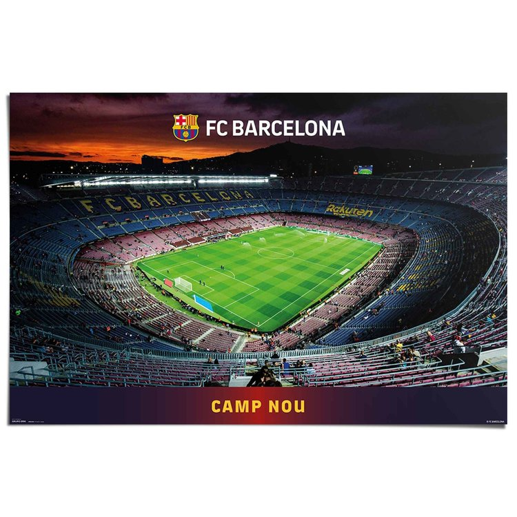Barcelona Voetbal - Stadion - Spanje  - Poster 91.5 x 61 cm Papier