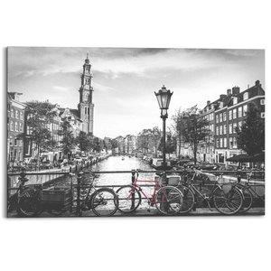 Schilderij Amsterdamse grachten
