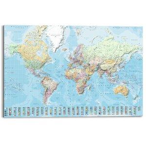 Schilderij Wereldkaart 1