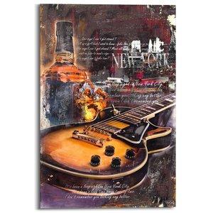 Schilderij Gibson Les Paul collage