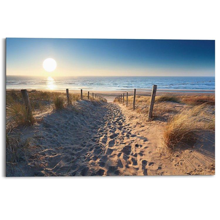 Noordzee strand - Schilderij 90 x 60 cm