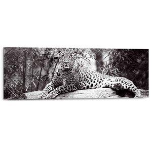 Schilderij Luipaard Liggend op een steen