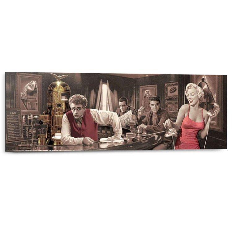 Chris Consani - java dreams  - Schilderij 90 x 30 cm