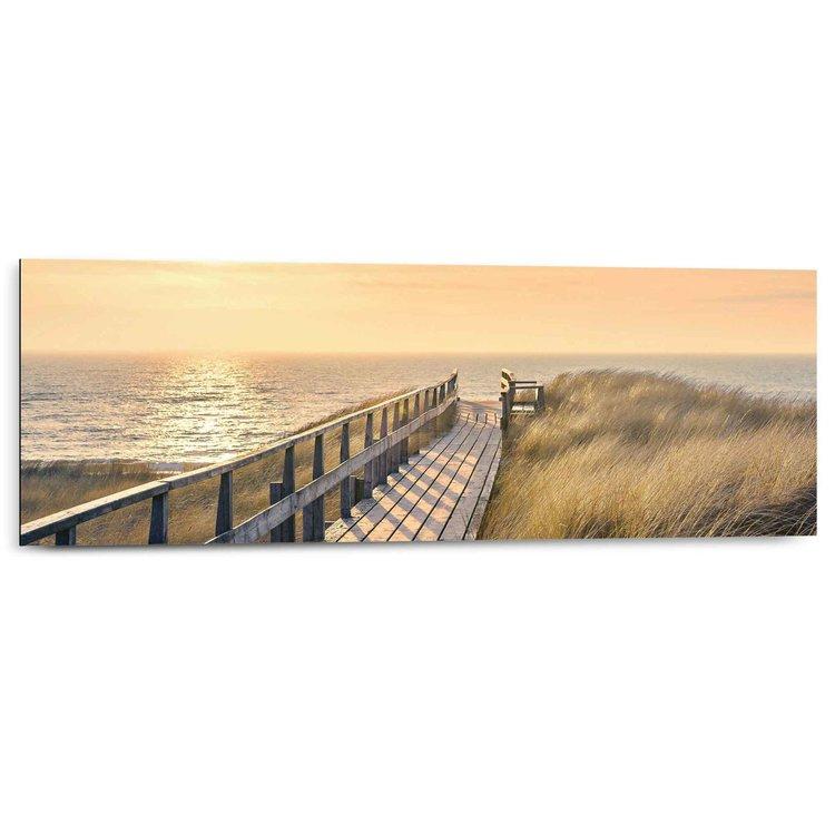 Strandpad  - Schilderij 90 x 30 cm