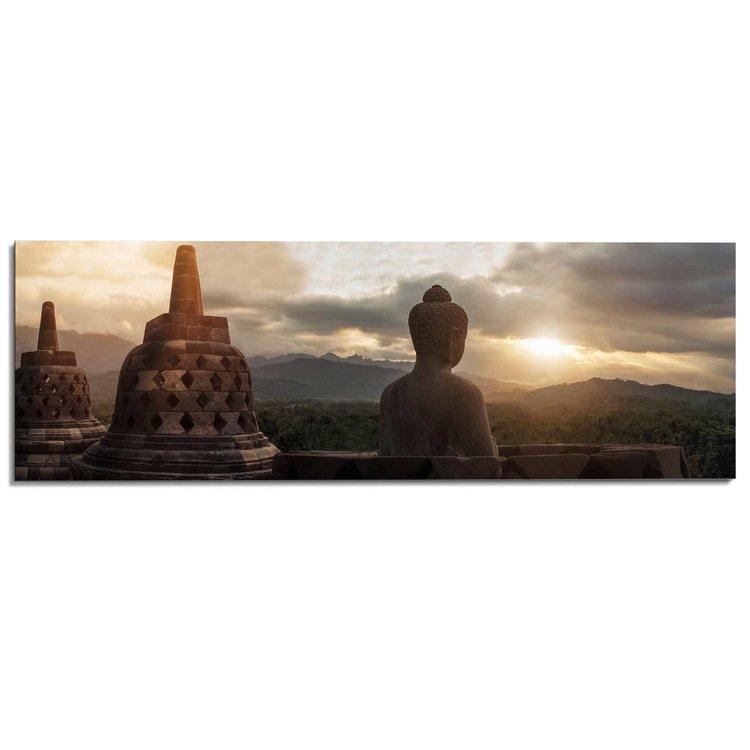 Borobudur Boeddha  - Schilderij 156 x 52 cm