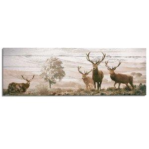 Schilderij Herten