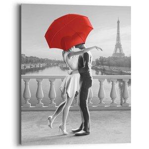 Schilderij Romantiek in Parijs