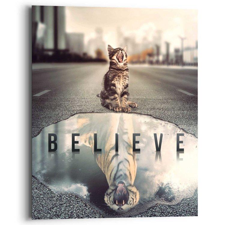 Believe in yourself! - Schilderij 40 x 50 cm