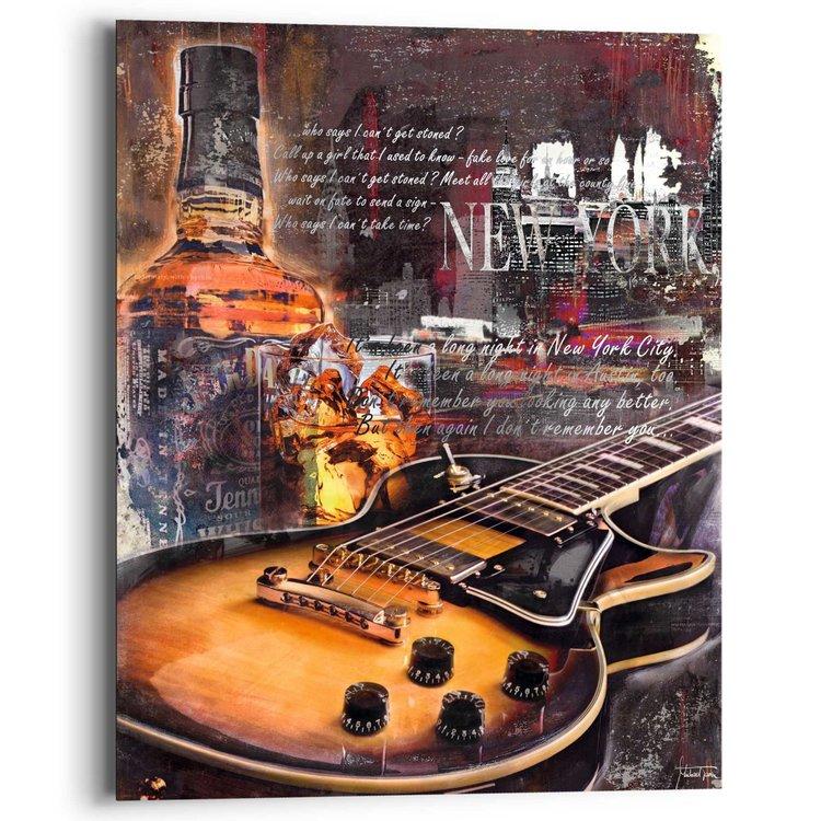 Blues Night - gitaar  - Schilderij 40 x 50 cm