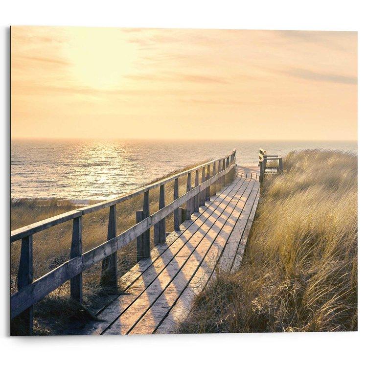 Strandpad  - Schilderij 50 x 40 cm