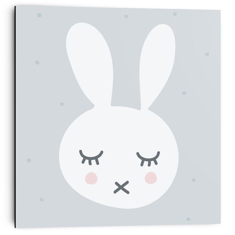 Slapen konijntje - Schilderij 30 x 30 cm
