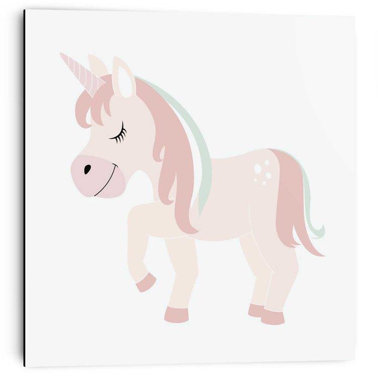 Kleine eenhoorn Magisch - Unicorn - Kinderkamer - Babykamer - Schilderij 30 x 30 cm