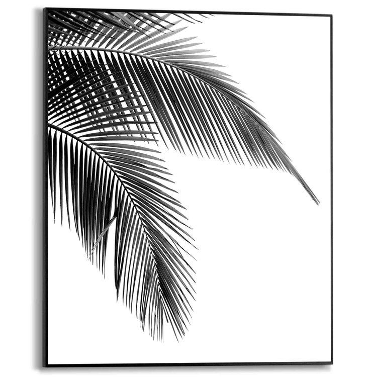 Palm Plant - Natuur - Palmboom - Palmblad - Schilderij Slim Frame MDF 40 x 50 cm