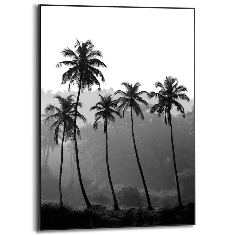 Palmbomen Natuur - Tropisch - Bos - Schilderij Slim Frame MDF 50 x 70 cm
