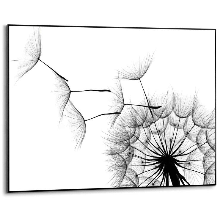Paardenbloem Illustratie - Close-up - Natuur - Modern - Schilderij Slim Frame MDF 70 x 50 cm