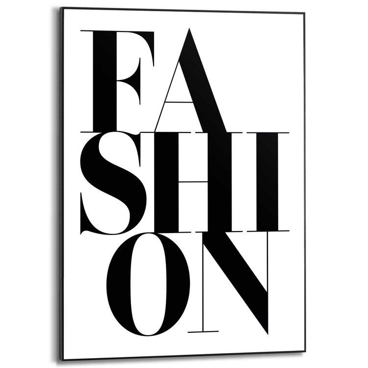 Fashion Engelse tekst - Mode - Beauty - Modern - Schilderij Slim Frame MDF 50 x 70 cm