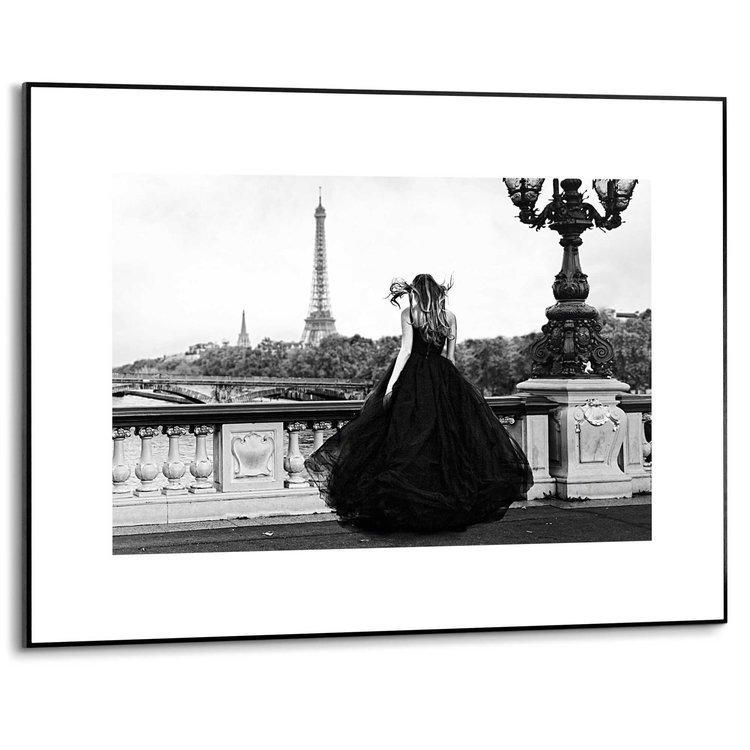 Galajurk Eiffeltoren - Parijs - Fotografie - Mode - Schilderij Slim Frame MDF 70 x 50 cm