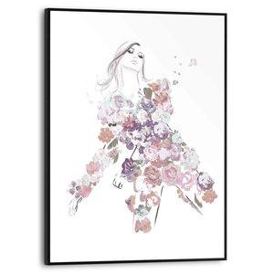 Schilderij Bloemenjurk