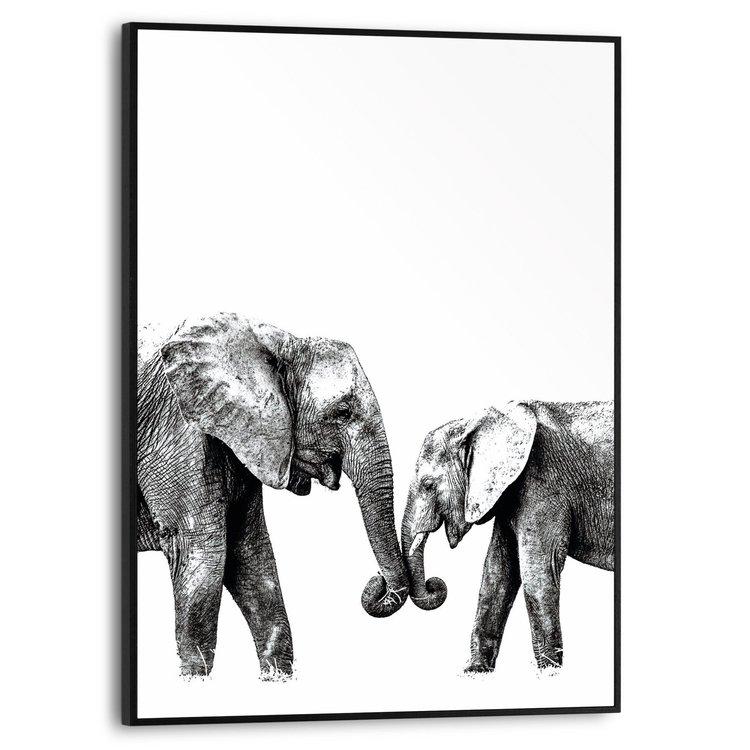 Olifanten Liefde - Modern - Afrika - Schilderij Slim Frame MDF 30 x 40 cm