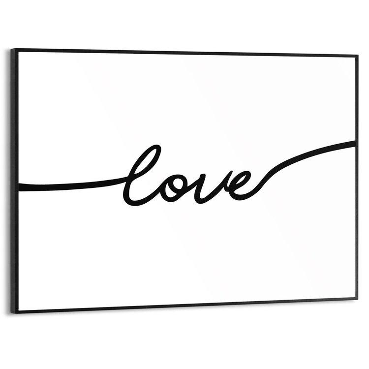 Love Engelse tekst - Liefde - Modern - Minimalistisch - Schilderij Slim Frame MDF 40 x 30 cm