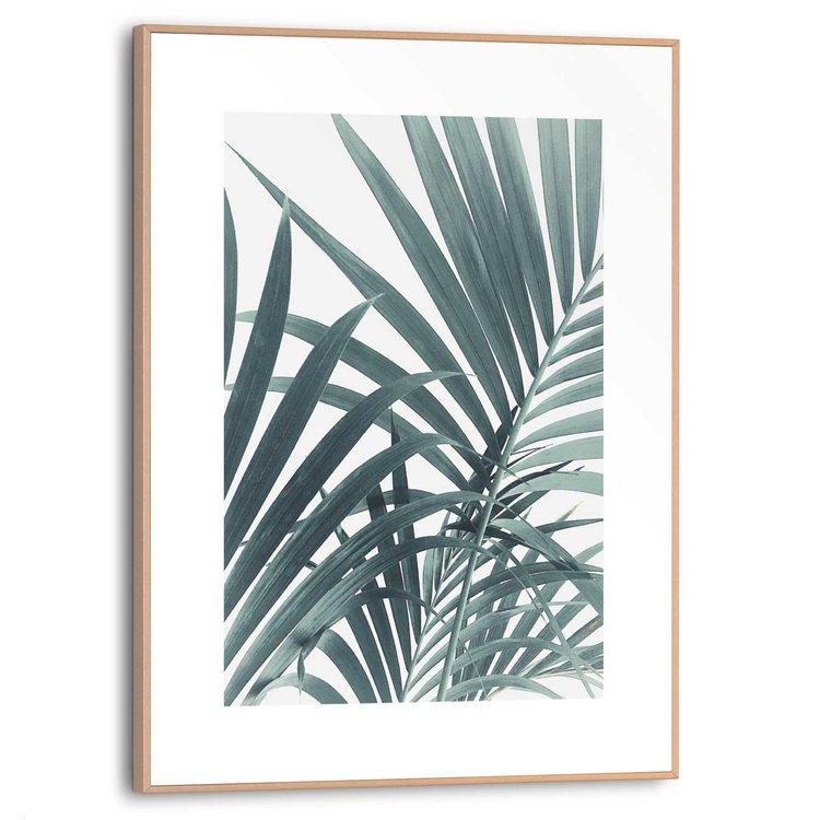 Palmbladeren Palmboom - Plant - Schilderij Slim Frame MDF 30 x 40 cm