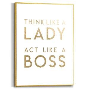 Schilderij Lady Boss