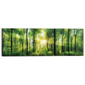 Schilderij Zomer bos