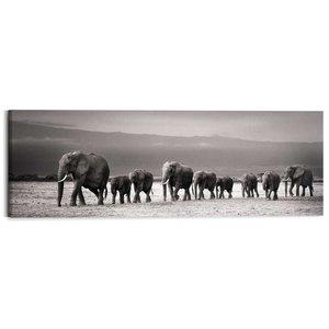 Schilderij Kudde Olifanten