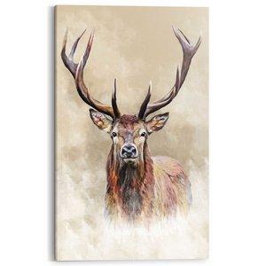 Schilderij Getekend hert