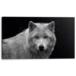 Schilderij Witte wolf