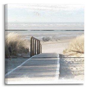 Schilderij Noordzee Strand - Duinen - Zee