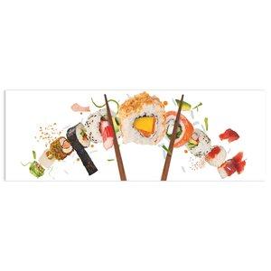 Glasschilderij Sushi