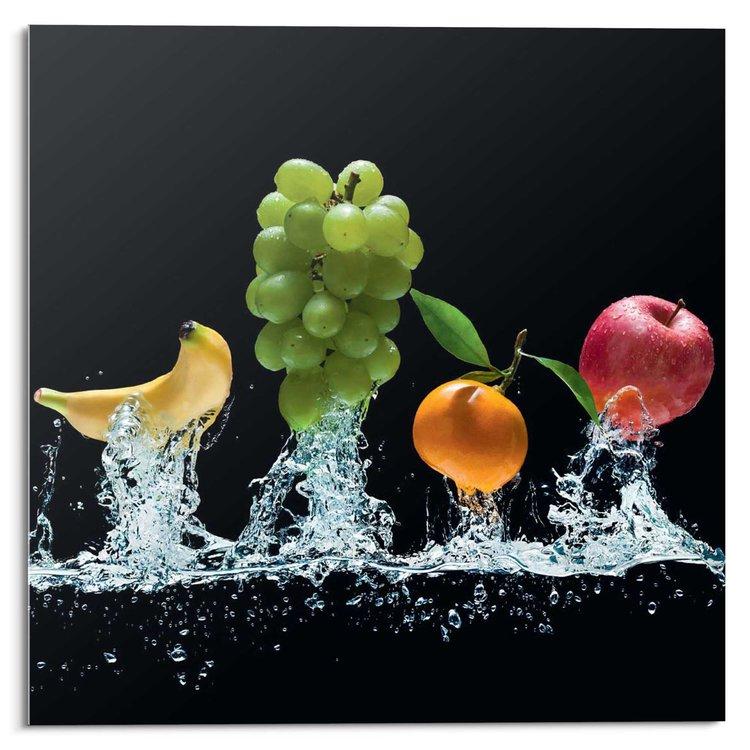 Fruit Plons  - Glasschilderij 30 x 30 cm