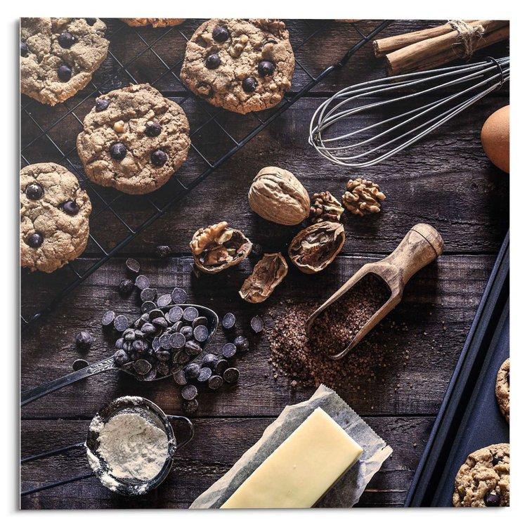 Choco Delicious Chocolade - ingrediënten - Walnoten - bakken  - Glasschilderij Deco Glas 30 x 30 cm