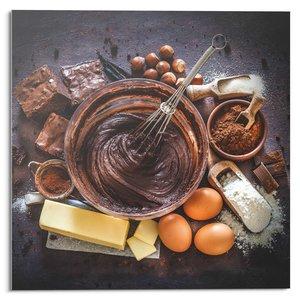 Glasschilderij Choco Recept