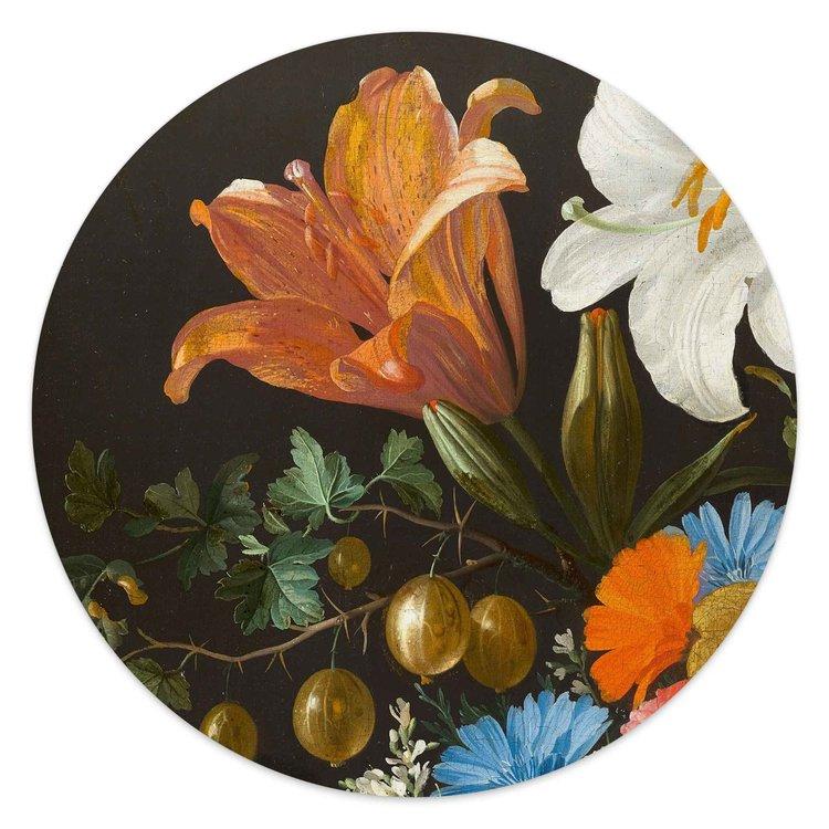 Jan Davidsz de Heem Stilleven - Glasschilderij rond 30 x 30 cm