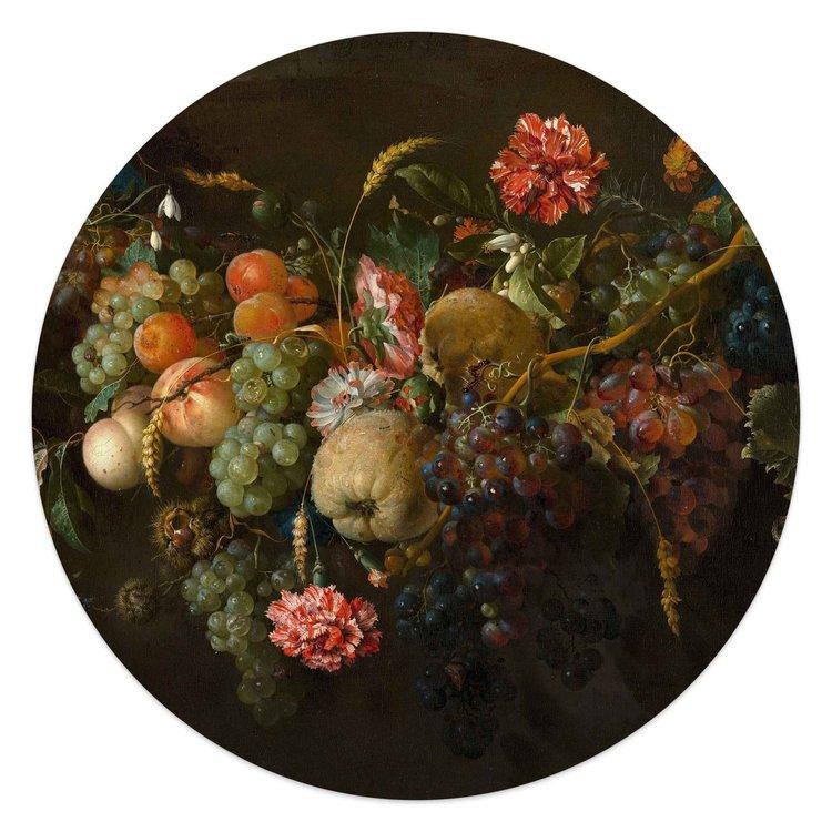 Jan Davidsz de Heem Stilleven - Glasschilderij rond 50 x 50 cm